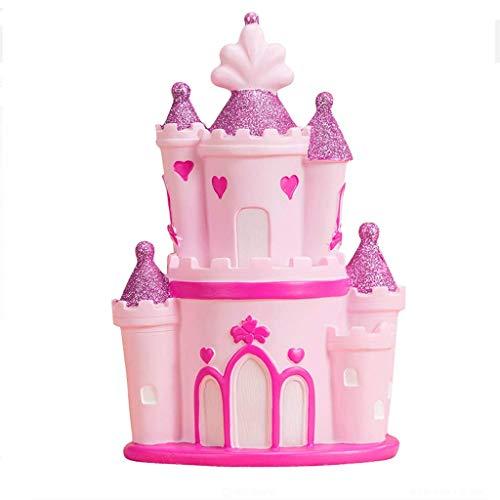 XHAEJ Money Banks Children's Piggy Bank Castle Castillo Piggy Bank Pink Girl'S Dream Regalo Cumpleaños Banco Piggy...