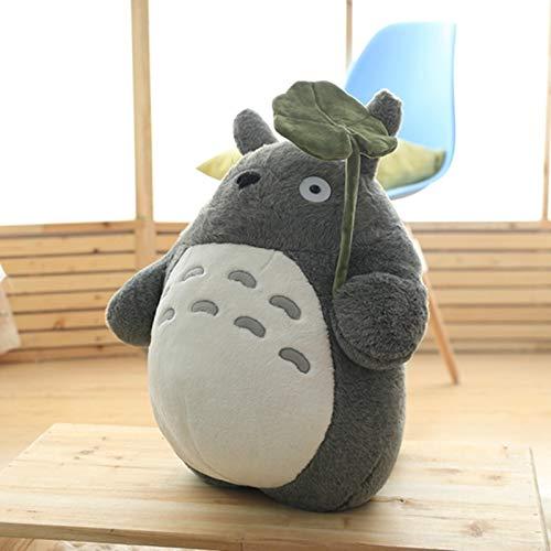 CGDX 1 stück 25/35/50 cm Kawaii Mein Nachbar Totoro Plüschtiere Gefüllte Weiche Anime Charakter Totoro Puppe mit Lotusblatt / Zähne Kinder Spielzeug 1 25 cm
