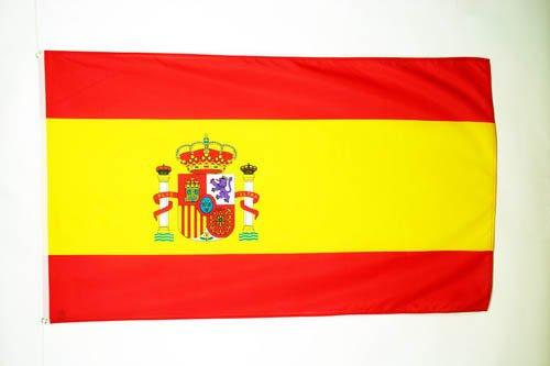 AZ FLAG Flagge Spanien 90x60cm - SPANISCHE Fahne 60 x 90 cm - flaggen Top Qualität