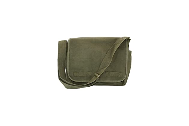 Olive Green Original Heavyweight Classic Military Messenger Bag with Army  Universe Pin 22f5b7f5e7b