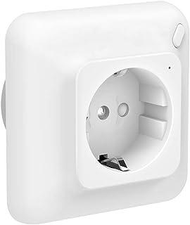 Szshining - Enchufe inteligente Mini WiFi Smart Plug, controlado de forma remota con Alexa y Google Home, blanco, con temp...