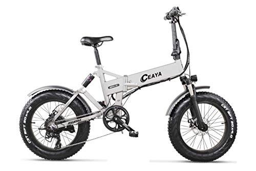 """Ceaya 20"""" Bici Elettrica, 500W Bici elettriche Pieghevole con 48V 12.8Ah, Cambio Shimano 7 Velocità E-Bike para Adultos"""
