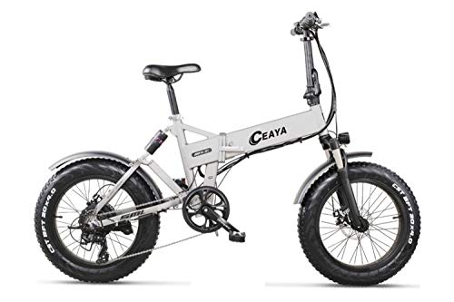 Ceaya Electric Bikes for Adult, Foldable Electric Bicycle All Terrain,20' 48V 500W Removable Lithium-Ion Battery Ebike