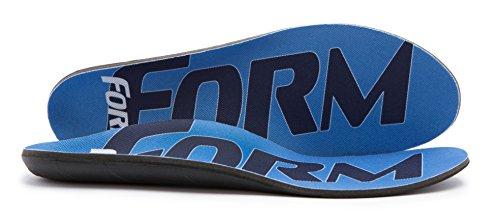 FORM Premium Insoles Maximum Support | Blue Men's 11 - 11.5, Women's 12.5
