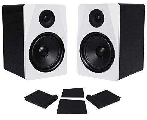 "Pair Rockville APM8W 8"" 2-Way 500 Watt Powered USB Studio Monitor Speakers+Pads"
