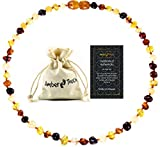 Best Amber Teething Necklaces - Amber Necklace (Unisex) - Certificated Natural Baltic Amber Review