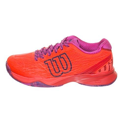Wilson WRS323420E045, Zapatillas de Tenis Mujer, Naranja (Fiery Coral/Fiery Red/Rose Violet), 37 2/3 EU