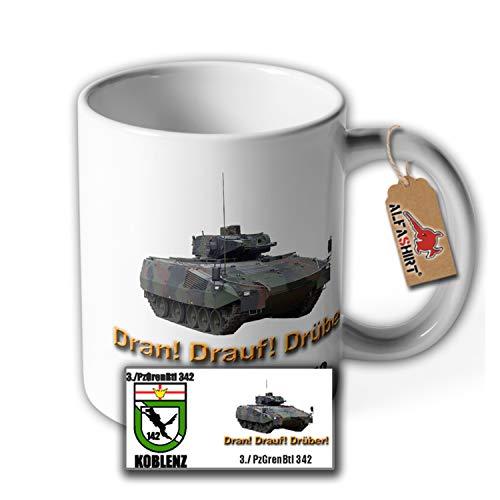 Tasse PzGrenBtl 342 Koblenz Panzergrenadierbataillon Wappen Bundeswehr #35563