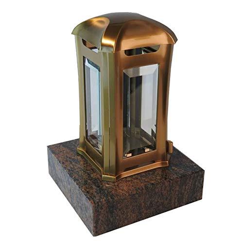 designgrab Grablampe Venezia aus Edelstahl messingfarben mit Granitsockel aus Granit Gneis Halmstad/Barap/Hollandia