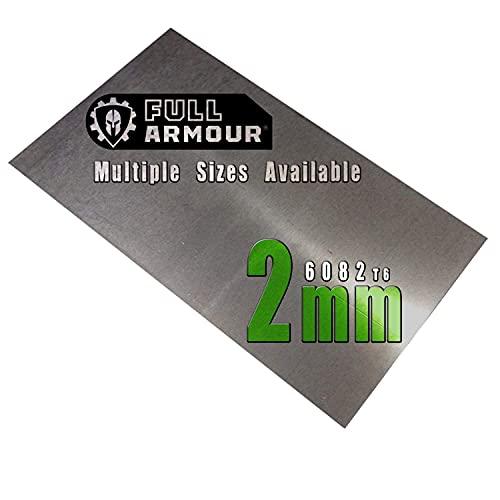 Plaque en aluminium de 2 mm – Grade 6082 T6 300 mm x 100 mm (30cm x 10cm)