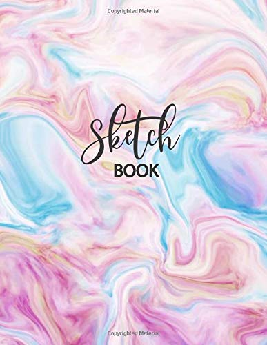 Sketch Book: Large Notebook for Drawing, Doodling or Sketching: 109 Pages, 8.5' x 11'. Marble Background Cover Sketchbook Blank Paper Drawing and Write Journal