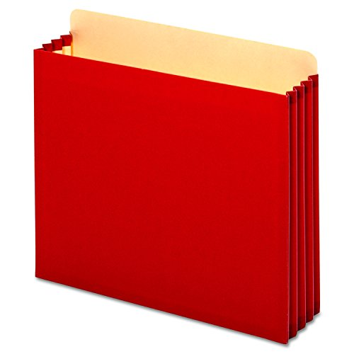 Pendaflex FC1524PRED File Cabinet Pockets, Straight, 1 Pocket, Letter, Red (Box of 10)