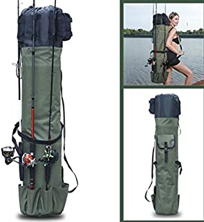Sougayilang Fishing Rod Case Organizer Pole Storage Bag Fishing Rod and Reel Organizer for Travel, Gift for Father, Boyfriend and Family