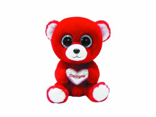 Ty 7136115 Cologne - Oso de Peluche con Ojos saltones (15 cm), Color Rojos y Plateado