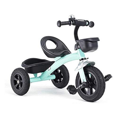 Para niños Niñito Pedal Triciclo, 1-6 años Antiguo Chico y Niña Equilibrar Bicicleta con Pedales y Frente y Posterior Grande Capacidad Almacenamiento Cesta, los para Para niños Al aire libre,V