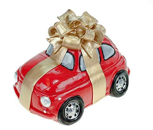UDO Schmidt spaarpot nieuwe auto met strik 15 cm rijbewijs cadeau spaarvarken