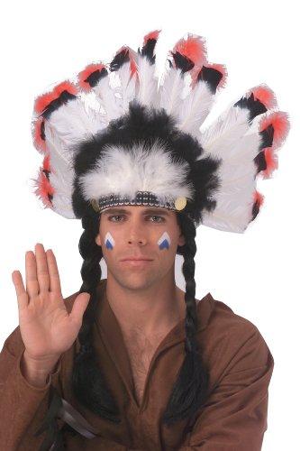 Rubie's Deluxe Native American Headdress, White, One Size