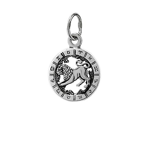 NKlaus Silber 925er Sterlingsilber Ketten Anhänger Horoskop Sternzeichen Löwe 6321