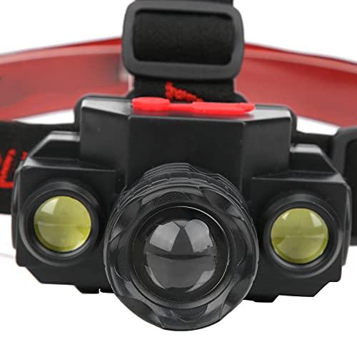 Linterna Frontal LED, USB Recargable Luz Frontal de Color Blanco Claro ABS para Lectura para Andar en Bicicleta para Pescar para Acampar para Correr para Caminar para Trotar