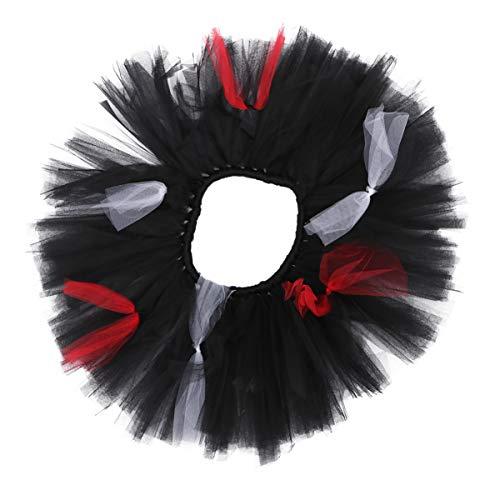SOIMISS Halloween Röcke Gaze Kleid Poker Muster Netz Garn Kleid Vintage Festival Performance Kleid Prinzessin Tutu Kostüm für Kinder Casino Thema Party Requisiten S (Schwarz)
