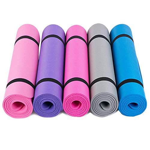 Yumhouse Colchoneta de Ejercicio Antideslizante,Esterilla de Yoga multifunción Yoga Pad Sports Fitness Pad-Blue_183 * 61cm,Alfombra Antideslizante