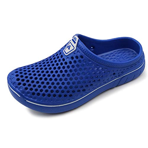 Amoji Garden Clogs Shoes Sandals Summer Slippers Crocks Kids Child Children Baby Boys Girls (Toddler/Little Kid/Big Kid) Blue 6-7 Big Kid