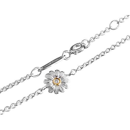 Thomas Sabo Blume Armband Silber/Gold mit Diamant 19 cm/8 mm SD_A0002-179-14