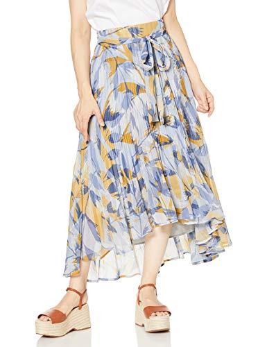 [マーキュリーデュオ] スカート フラワーリーフプリーツマキシスカート レディース アイスブルー 日本 S (日本サイズS相当)