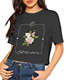 The Chainsmokers Women Crop Top Sexy Summer Cotton T Shirt Tops L Black