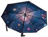 ombrello automatico da viaggio levenhuk star sky z20, compatto e con stampa a tema astronomico