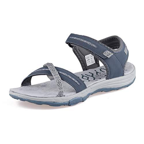 GRITION Sandalias Senderismo Mujer Verano Planas Trekking Confort, Secado rápido Ajustable Correas Puntera Abierta Damas Excursionismo Deportivas Zapatos