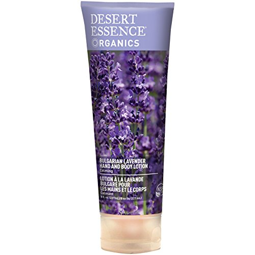 Desert Essence Bulgarian Lavender Hand & Body Lotion - 8 Fl Ounce - Calming - Shea Butter - Aloe Vera - Soothes & Nurtures - No Oily Residue - Honeysuckle - No Parabens