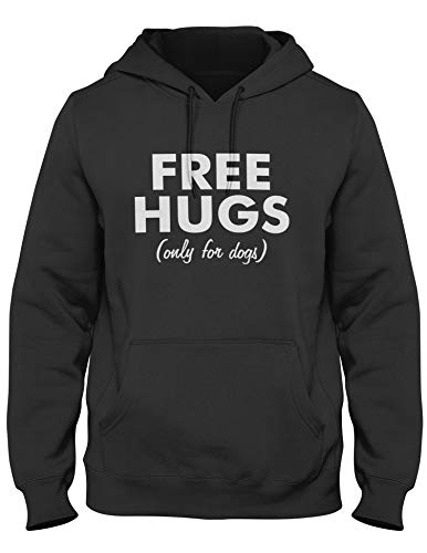 Free Hugs Only for Dogs Sweat-shirt à capuche pour homme - Noir - Small