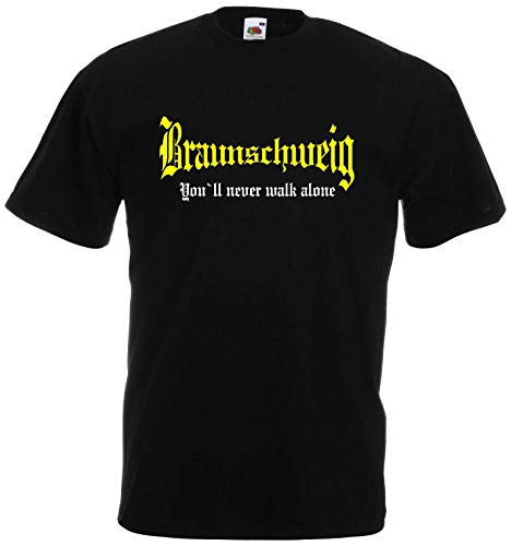 Braunschweig Herren T-Shirt You`ll Never Walk Alone