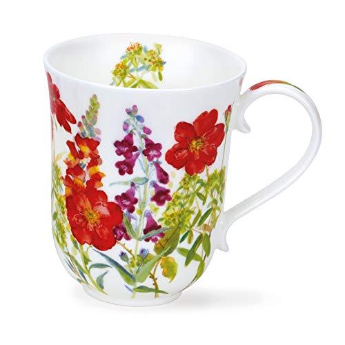 BR-COTF-RE chatka kwiaty czerwony Staffordshire Fine Bone China kubek - Braemar kształt 0,33 l