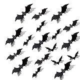 LinTimes Halloween Fledermaus Dekoration, 3D Fledermaus Wandtattoo Aufkleber Scatter Dekoration...