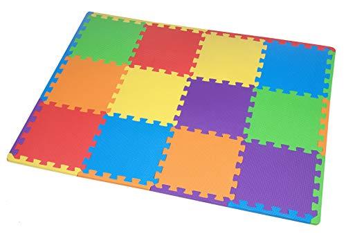 12 St. Puzzlematte Baby, Spielmatte Puzzle, Schaumstoffmatte schadstofffrei für Baby Puzzleteppich Steckmatte Spielteppich Krabbelmatte Turnmatte