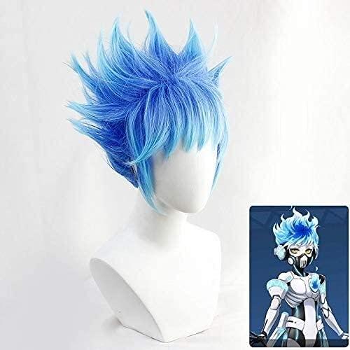 Twisted-Wonderland Ortho Shrud Wigs Cosplay Disfraz Azul Medianzado Corto Calor Resistente al Cabello Sinttico Pelucas Anime Wigs
