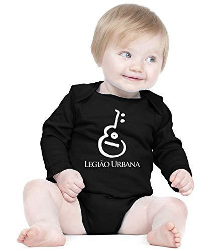 Body Bebê Banda Legião Urbana (Preto)- Roupinhas Macacão Infantil Bodies Roupa Manga Longa Menino Menina Personalizados (GG)