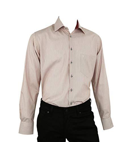 DIGEL Hemd Hemd Gerrit-N in Rot gestreift, Business Stretch, Größe: 44