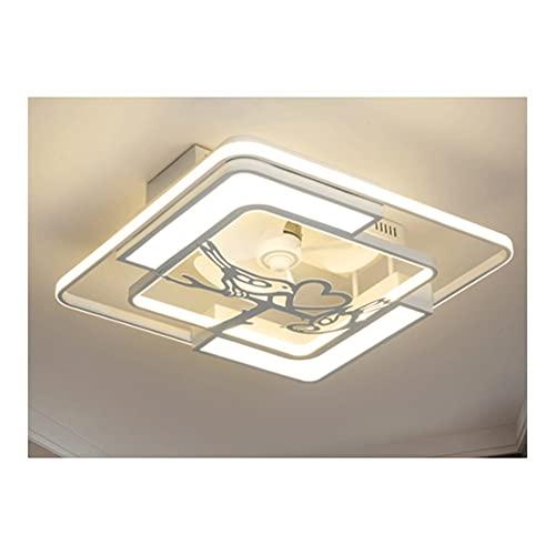 LZL Ventilador de Techo de Montaje en Color de 23 Pulgadas con DIRIGIÓ Kit de luz, Control Remoto, 3 Cuchillas, Accesorios de lámpara de Ventilador de Techo acrílico Cerrado (Color : A)