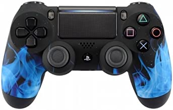 DualShock 4 Wireless Controller for PlayStation 4 - Soft Touch Design - Added Grip for Long Gaming Sessions - Multiple PS4 Colors Available (Blue Flame)