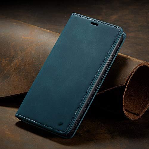 ZXMDP para iPhone 11 Funda Protectora 12 Mini Pro X XS XR MAX Funda magnética de Lujo para teléfono con Tapa para iPhone 5 6 7 8 SE 2020 Plus Funda Tipo Billetera, Azul, para iPhone 12