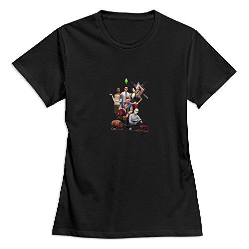 TEC&KIM SimCity 4 Logo 100% Cotton Shirts for Women's