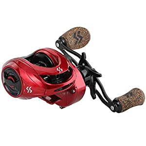 Sougayilang Baitcasting Reels, Fishing Reels with 8:1 Gear Ratio Super Smooth Power Baitcaster Reel, 9 + 1 Ball Bearings Anti-Corrosion Bait Caster Reel-Left Hand