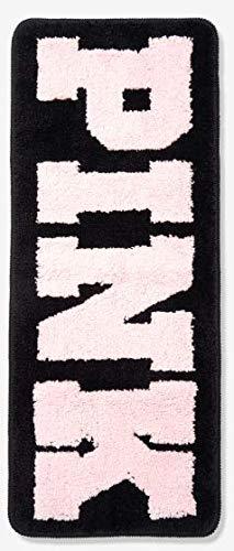 VICTORIA SECRET - PINK AND BLACK BATH MAT MATT RUG/LOCKER/DRESSER MAT