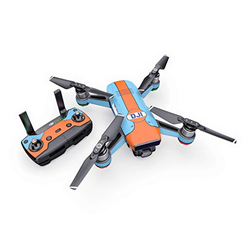 Retro Racer Decal for Drone DJI Spark Kit - Includes Drone Skin, Controller Skin and 1 Battery Skin