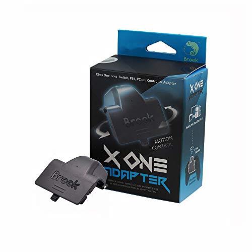 Mcbazel Brook X One Adapter für Xbox One Controller auf PS4 Nintendo Switch mit Remap Turbo Wireless Connection und Wiederaufladbarem Akku mit Gam3Gear Schlüsselanhänger