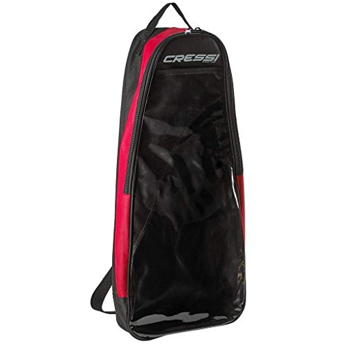 Cressi Palau Deluxe Snorkeling Bag, Long Fins, Red