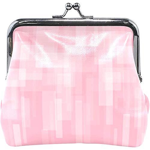 Abstracte roze geometrische bedruk-lederen portemonnee Snap Closure Clutch